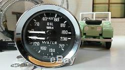 Indicateur De Pression D'huile Smiths Température De L'eau Dual 233480 Land Rover Série 1 2 2a