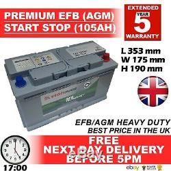 Jaguar Land Rover Range Rover 019 Car Batterie Agm Efb 105ah S5a13 S5a15 100