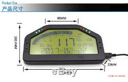 Jauge De Digital D'écran D'affichage À Cristaux Liquides D'affichage De Course De Tableau De Bord D'affichage De Connexion De Obd2 Bluetooth