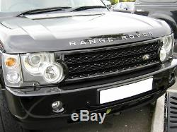 Kit De Calandre De Conversion Superchargé Noir Pour Grillade Vogue Range Rover L322 03-05
