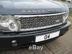 Kit De Conversion Chrome Grille Superchargée Pour Range Rover L322 03-05 Vogue Hse