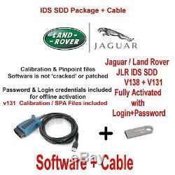 Kit Jlr Land Rover Range Rover Vogue Jaguar Diagnostics Ids + V138 Jlr DDI V131
