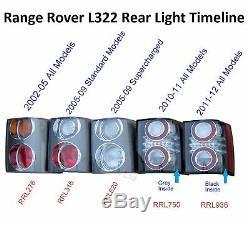 L322 Arrière Feu Arrière Rouge / Orange 2002-05 Pour La Gamme Vogue Rover Carbone Amber