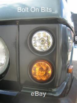 Lampe Frontale À Led Rdx Black Pods Range Rover Classic Nouveau
