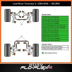 Land Rover Discovery 3 Bushes Kit Avant + Arrière + Arb Polyuréthane (2004-09)