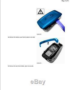 Land Rover Range Rover Sport 10-13 Télécommande Key Fob Housse Couverture