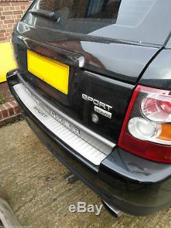 Land Rover Sport Arrière Plaque Tread Pare-chocs Couverture Argent Chrome Oem Fit