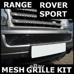Noir Avant Pare-chocs Fil Mesh Pour Calandre Range Rover Sport Grill Nouveau 2005-2009