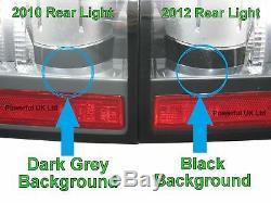 Paire De Feux Arrière À Del Noirs De 2012 Pour Le Feu Arrière De Conversion Du Range Rover L322