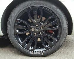 R306bg Sport Range Rover 4x 21 Genuine Style 507 Black Alloyage Gloss