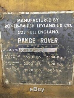 Range Rover C 2 Suffixe Porte Classique 1974
