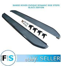 Range Rover Evoque Side Steps Running Boards Dynamic Models Black Edition 11+