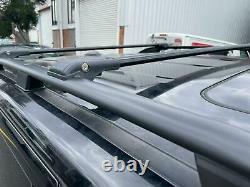 Range Rover Sport 05-2013 Barres De Toit Antivol En Aluminium + Barres Croisées Noir