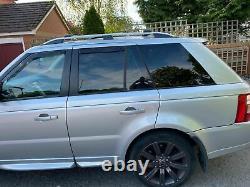Range Rover Sport 05-2013 Barres De Toit Verrouillables En Aluminium + Barres Transversales Gris