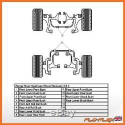Range Rover Sport Buissons Avant + Arrière + Arb Kit Polyuréthane Poly (2005-13)