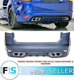 Range Rover Sport L494 Svr Style De Pare-chocs Arrière Body Kit + Tailpipes 13-19 Oem Fit