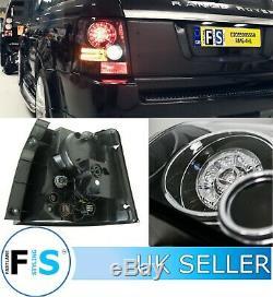 Range Rover Sport Led Arrière Phare Arrière Tint Black Edition Avec Des Résistances 05-13