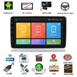 Rotation 10.1en Simple 1din Android 9.1 Voiture Mp5 Lecteur Stéréo Radio Gps Wifi Bt