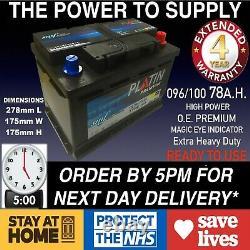 Rover 75 1.8 2.0 2.5 Essence 2.0 Batterie De Voiture Diesel 096 100 12v Poids Lourd Scellé