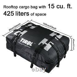 Sac De Fret De Toit De Voiture Top Carrier Rack Storage Boîte De Voyage De Bagages 15 Pieds Cubiques