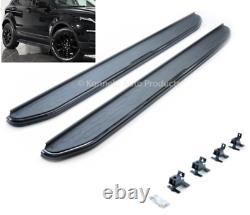 Stealth Black Side Steps Pour Range Rover Evoque Pure Prestige Se 2011-18