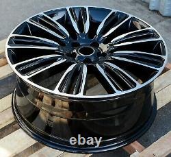 Style Dynamique 22x9.5 Roues Usinées Noires Fit Land Rover Range Rover Hse Svr