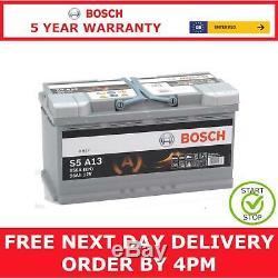 Tapez 019 Bosch S5a13 Agm Start Stop Batterie De Voiture 12v 95ah Avec Une Garantie De 5 Ans