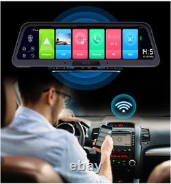 Touch 10'' Android Voiture Dvr Enregistreur Gps 4g 1080p Double Objectif Caméra Dash Cam Wifi