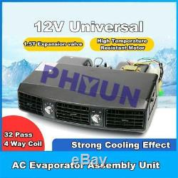 Unité De Camion De Voiture 12v Underdash Climatiseur Évaporateur A / C Compresseur 3 Vitesse