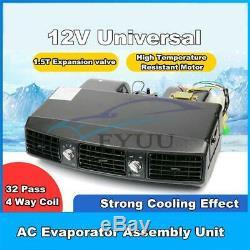 Universal 3 Vitesses 12v A / C 32 Passe Évaporateur Compresseur Climatiseur 80w 15a