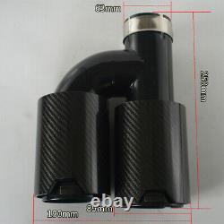 Universal 63mm-89mm -double Pipes Droite + Côté Gauche Brillant Échappement Twin Fin Conseils