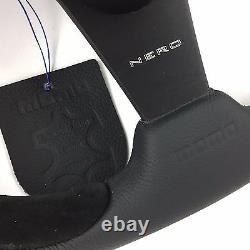 Véritable Volant En Cuir Momo Nero 350mm Et Moyeu 48 Spline. Pour Land Rover