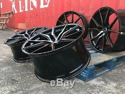 Vw Transporter T5 T6 Jantes Et Pneus En Alliage De 20 Pouces Noir Perl Haute Charge 850kg