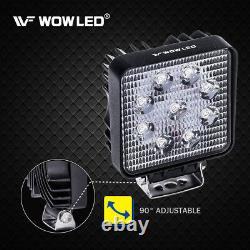 Wow 10 Pcs 27w 9 Led Light Work Flood Offroad Lampe Suv 4 Roues Motrices Camion Camp 12v 24v