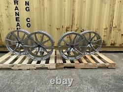 X4 22 Pouces Svr Style Alliage Roues S'adapte Range Rover Vogue Sport Disco Silver Svr