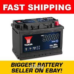 Ybx9096 Yuasa Agm Démarrage De La Batterie De Voiture 12v 70ah